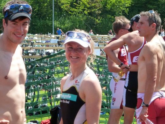 Martina Nagel beim Triathlon in Erbach